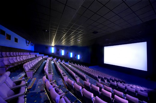An inside view of a cinema hall