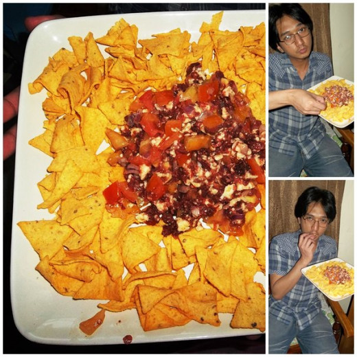 Pseudo nachos with less than 5 ingredients