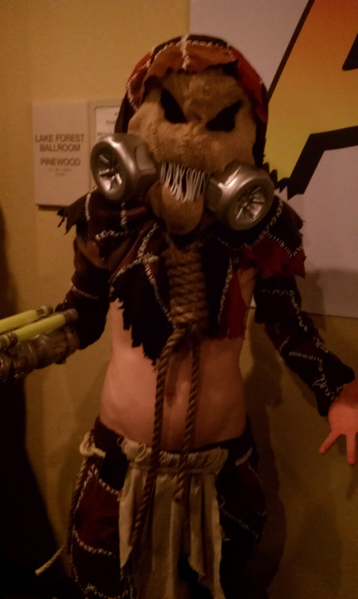 """Scarecrow from """"Batman."""" This is probably my favorite costume from the convention."""