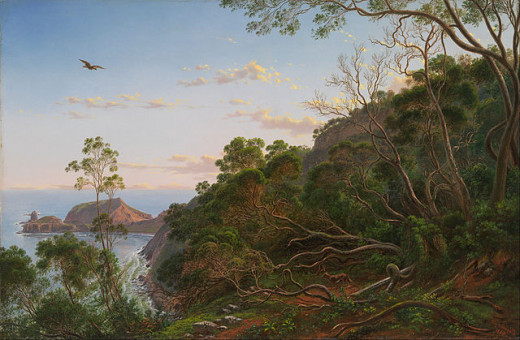 Tea Trees near Cape Schanck, Victoria, Australia. From a painting by Eugène von Guérard