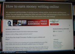 Making Money Writing Articles Online