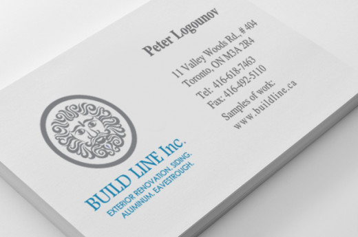 Construction Business Card Design.
