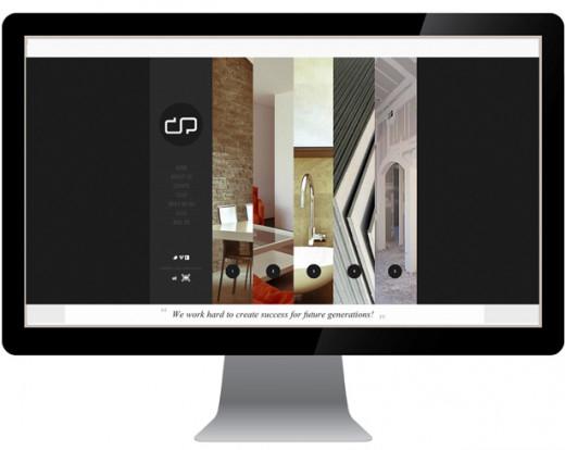 Contractors website design sample