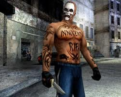 Manhunt 2 is a horror video game that was produced for the PS2. The original Manhunt was on the Playstation 1 console.