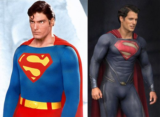Christopher Reeve  left  Henry Cavill Vs Christopher Reeve