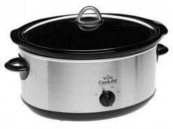 Crockpot, get one with a glass lid if possible.