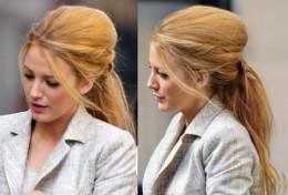 Messy chic ponytail