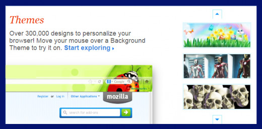 Screenshot 12. Firefox themes add flair. Source Mozilla Firefox