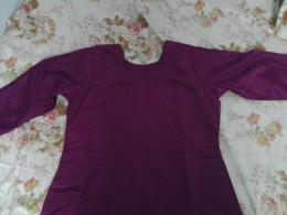 Plain satin dress