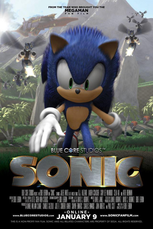 """Blue Core's """"Sonic"""" fan film poster"""