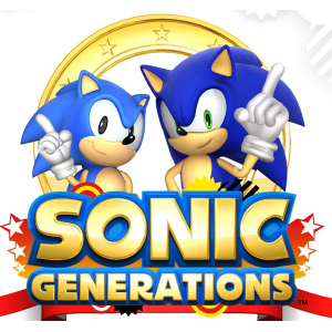 Sonic Generations title screen logo (featuring Classic Sonic and Modern Sonic)