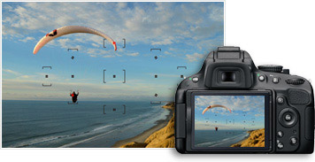 With the Nikon D5100's 11-point autofocus (AF) system and its 3D-tracking system your subject will remain in sharp focus wherever it's located on the frame.
