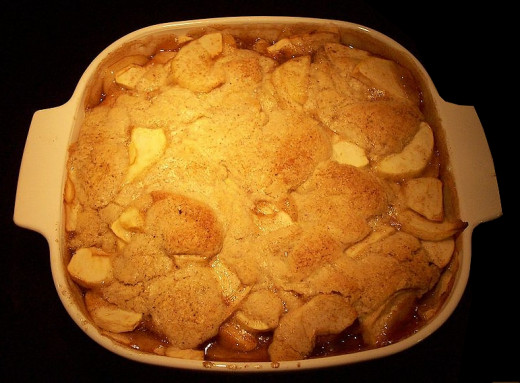Delicious freshly baked Apple Cobbler
