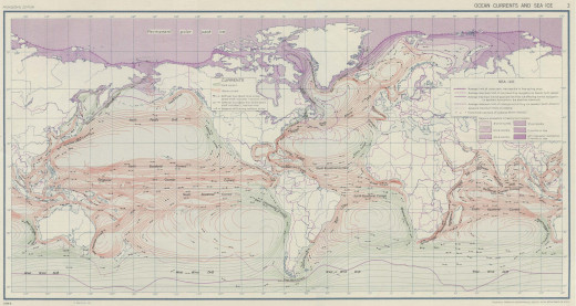 This map shows a detailed look at the paths of the sea