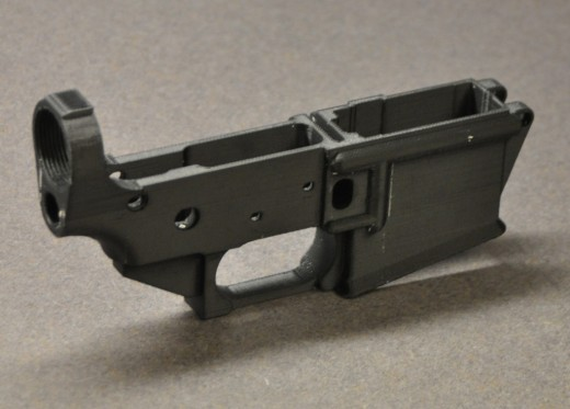 Example of a 3D printed lower receiver