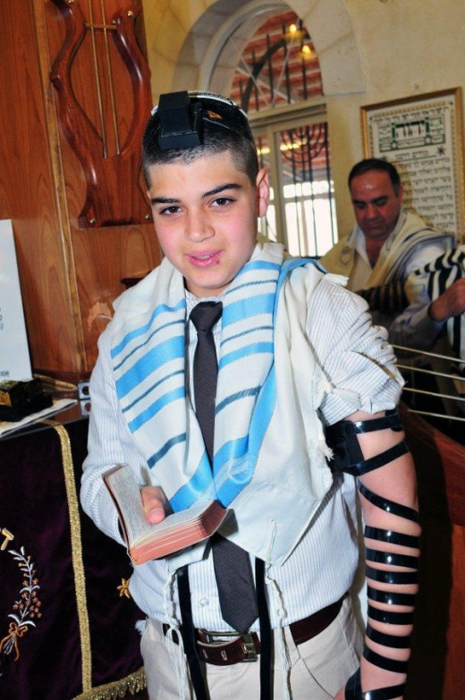 A BAR MITZVA BOY FROM MAOZ ZION