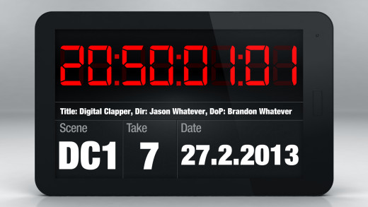 Android based clapperboard