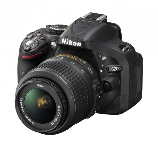 The Nikon D5200: 24.1MP, full HD video 1080/60i in stereo, 5fps continuous rate - just some of this impressive camera's features.
