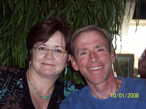 Brad and I at brunch - October 2008