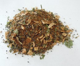 loose incense blend - Prosperity, made using Cloves, Nutmeg, Lemon Balm, Poppy Seeds and Cedar.