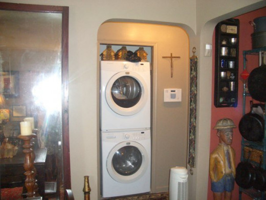 Coat Closet turned Laundry Room.