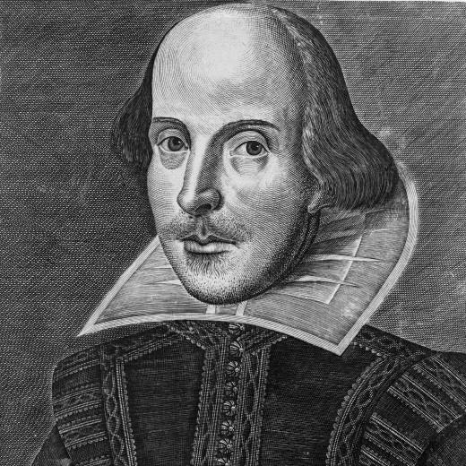Copper Engraving Portrait of William Shakespeare