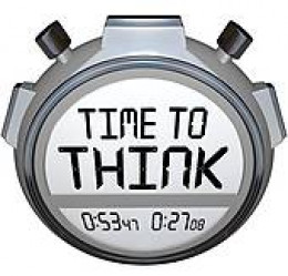 Time to think for ourselves - time is running out