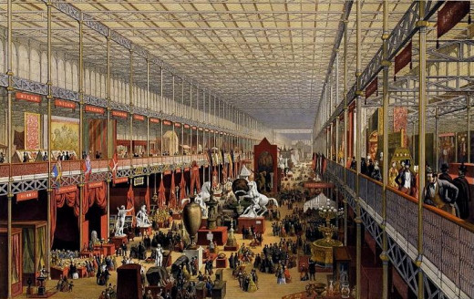 INTERIOR OF CRYSTAL PALACE