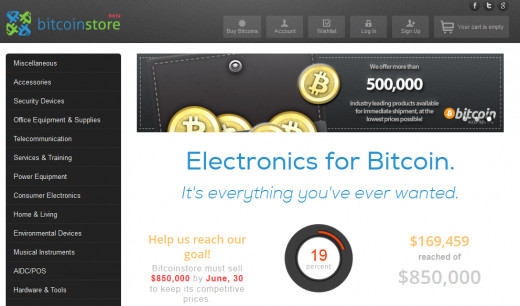 Buy electronics with bitcoins