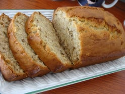 Waste not, want not! Don't throw away those over ripe bananas! Bake some banana bread, it's an easy recipe.