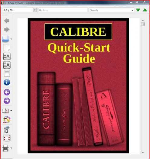Calibre even has a quick-start guide to help you in case you're confused about something.