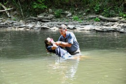 Baptizing my daughter Jamie