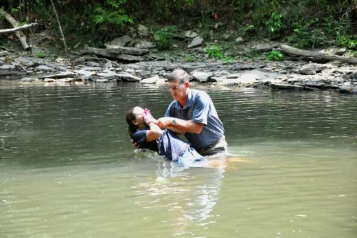 Baptizing my daughter Jamie