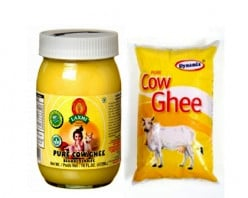 Cow Ghee in Bottle and pouch