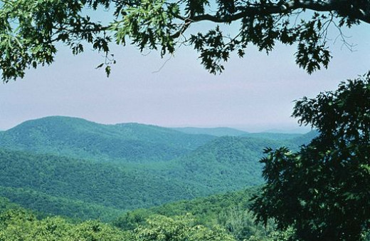 A typical overlook in the Shenandoah National Park.