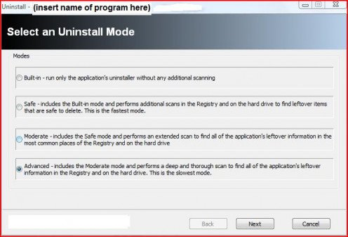Revo Uninstaller gives you 4 different choices on how you want to uninstall a program. The best is undoubtedly the advanced mode even if it is also the slowest mode. It's so slow because it's really thorough.