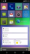 """Tile Launcher, showing off Jelly Bean """"card"""" widgets (obviously, you need Jelly Bean to do this!)"""