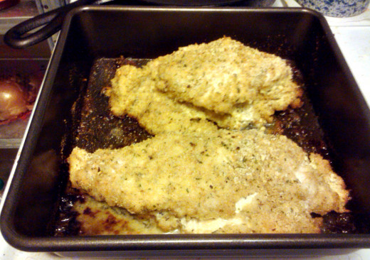 Savory Cheese Stuffed Chicken Breasts straight from the oven!