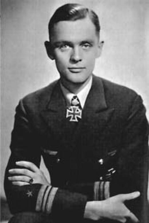 "Korvettenkapitän Hardegen received many decorations including the  ""U-boat War Badge with Diamonds"""
