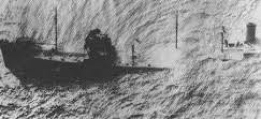 Gulfamerica actually sank on April 16th after being torpedoed on the 11th.
