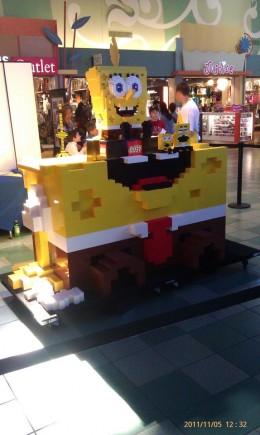 Picture of the eventual 8-foot tall Sponge-Bob, in-progress. Smaller version of Bob above.