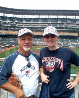 Two enjoying the Minnesota Twins.