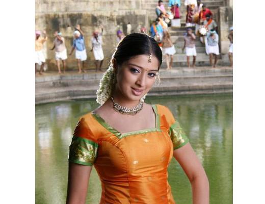 Lakshmi Rai in traditional festival dress