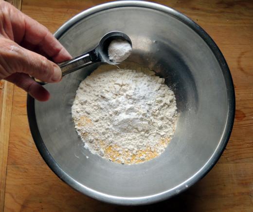 add your baking powder & soda