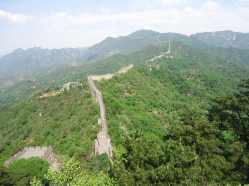 The Mutianyu Wall section of the Great Wall of China