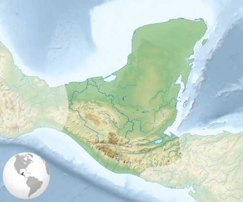 Location of Maya civilization