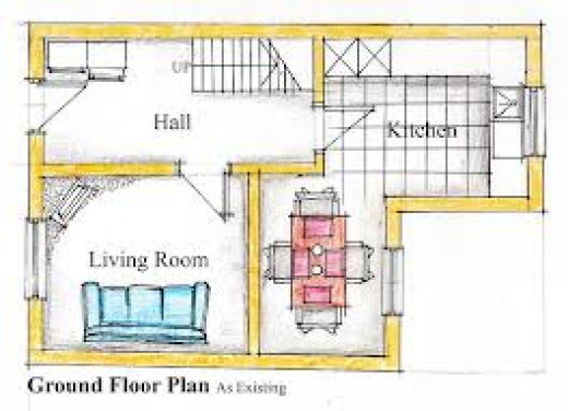 Sketch Plan of A House