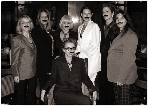 Having fun with moustaches