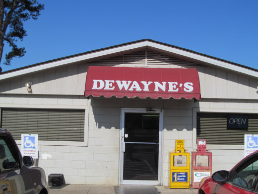 Dewayne's Diner, on your left as you go around the curve on Hwy 7N thru Dover, AR proper