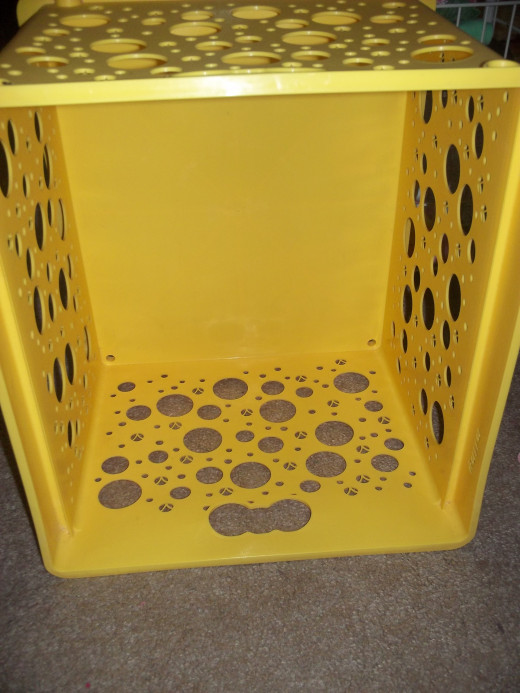 A practical plastic crate